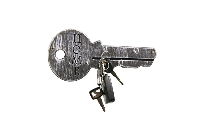 Unique Personalized Wood Key Holder For Wall With Hooks   Anniversary Gift