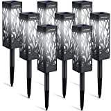 URPOWER Solar Lights Outdoor Upgraded Solar Pathway Lights with Bigger Solar Panel & Longer Working Time IP65 Waterproof Solar Garden Lights for Landscape Path Lawn Patio Yard Driveway (White 8 Pack)