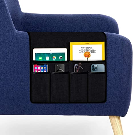 Magazines Brown TV Remote Control Space Saver Bag Book Anaric-Tih Sofa Armrest Organizer Waterproof Sofa Couch Chair Armrest Durable Soft Caddy Organizer Holder for Phone