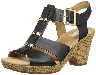 31989394d963 Gabor Womens Aristo T-Bar Black Schwarz (schwarz (gold)) Size  44 ...