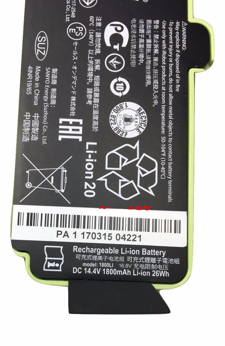 Authentic OEM irobot Roomba Li-ion Battery Lithium Ion 500 600 700 800 Series