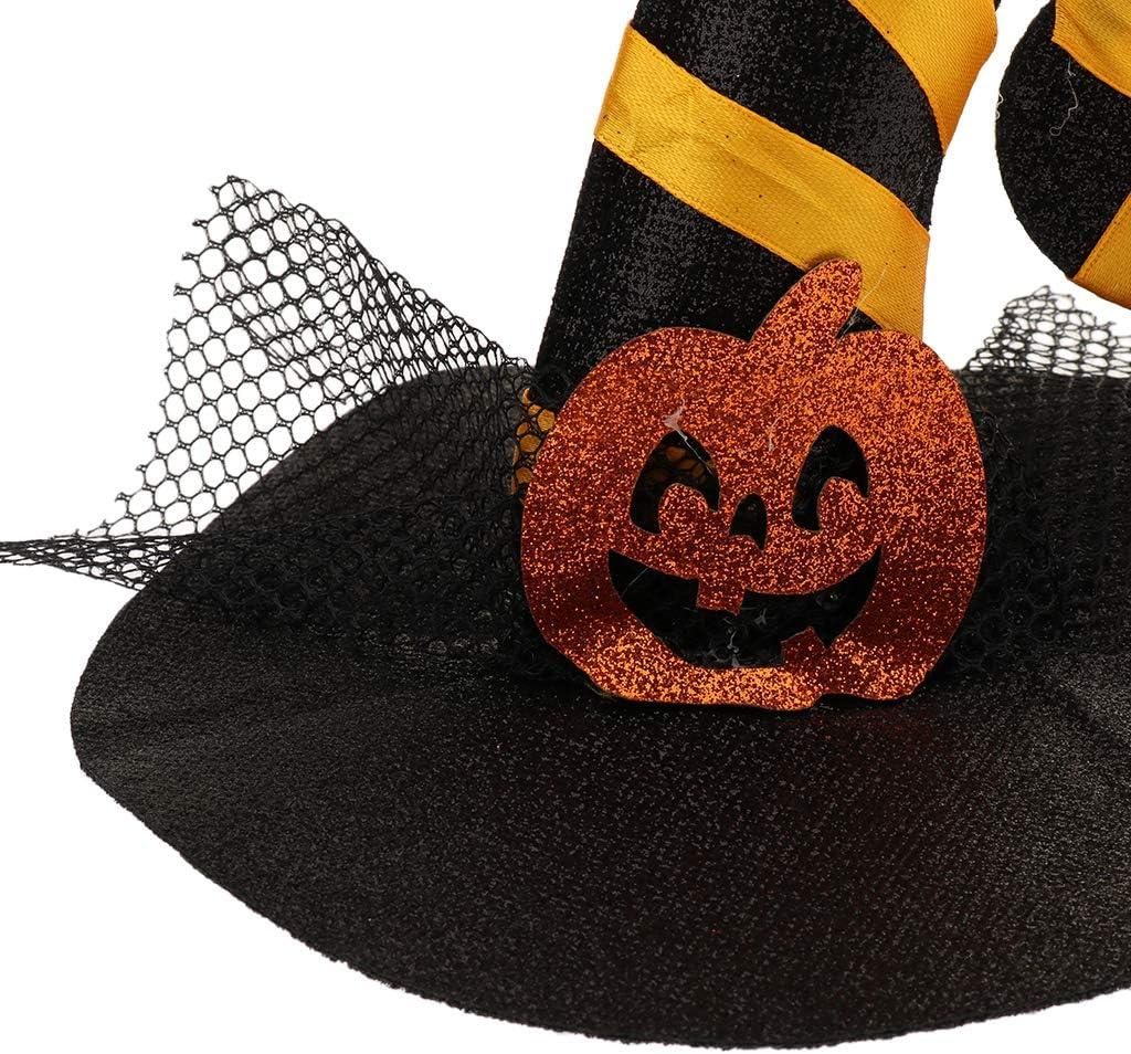 B Blesiya Cat Halloween Costumes Pet Supplies Small Dog Halloween Witch Hat Wizard Cap with Trim#5