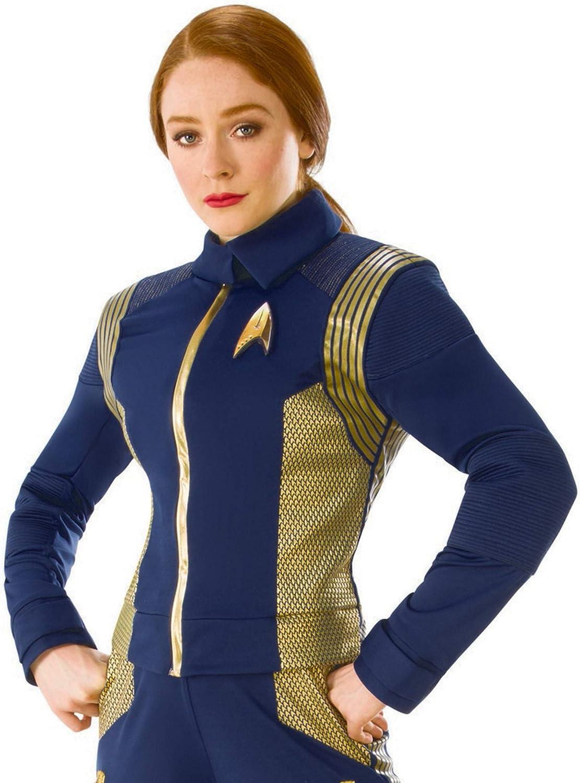 Rubie's 821205-STD Women's Star Trek Discovery Command Costume Uniform, Standard, Gold