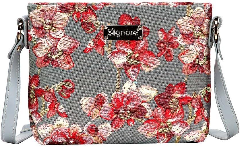 Signare Tapiz mochila bandolera mujer bolsos pequeños mujer con diseño floral (Orquídeas)