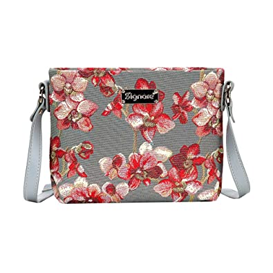 fe8e63b8d0 Orchid Grey and Red Crossbody Bag by Signare Women s Floral Wild ...