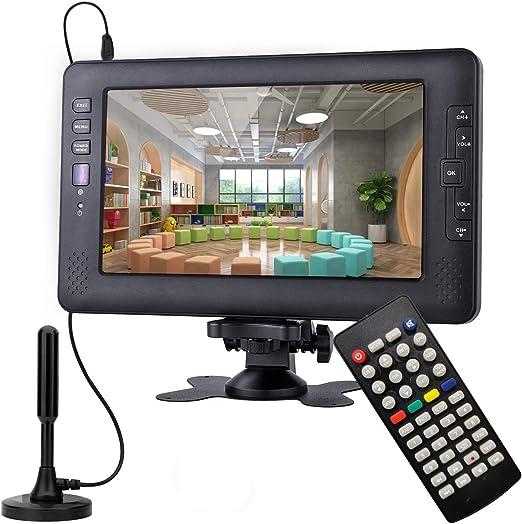 Televisor portátil, sintonizador Digital DVB-T2, con batería ...