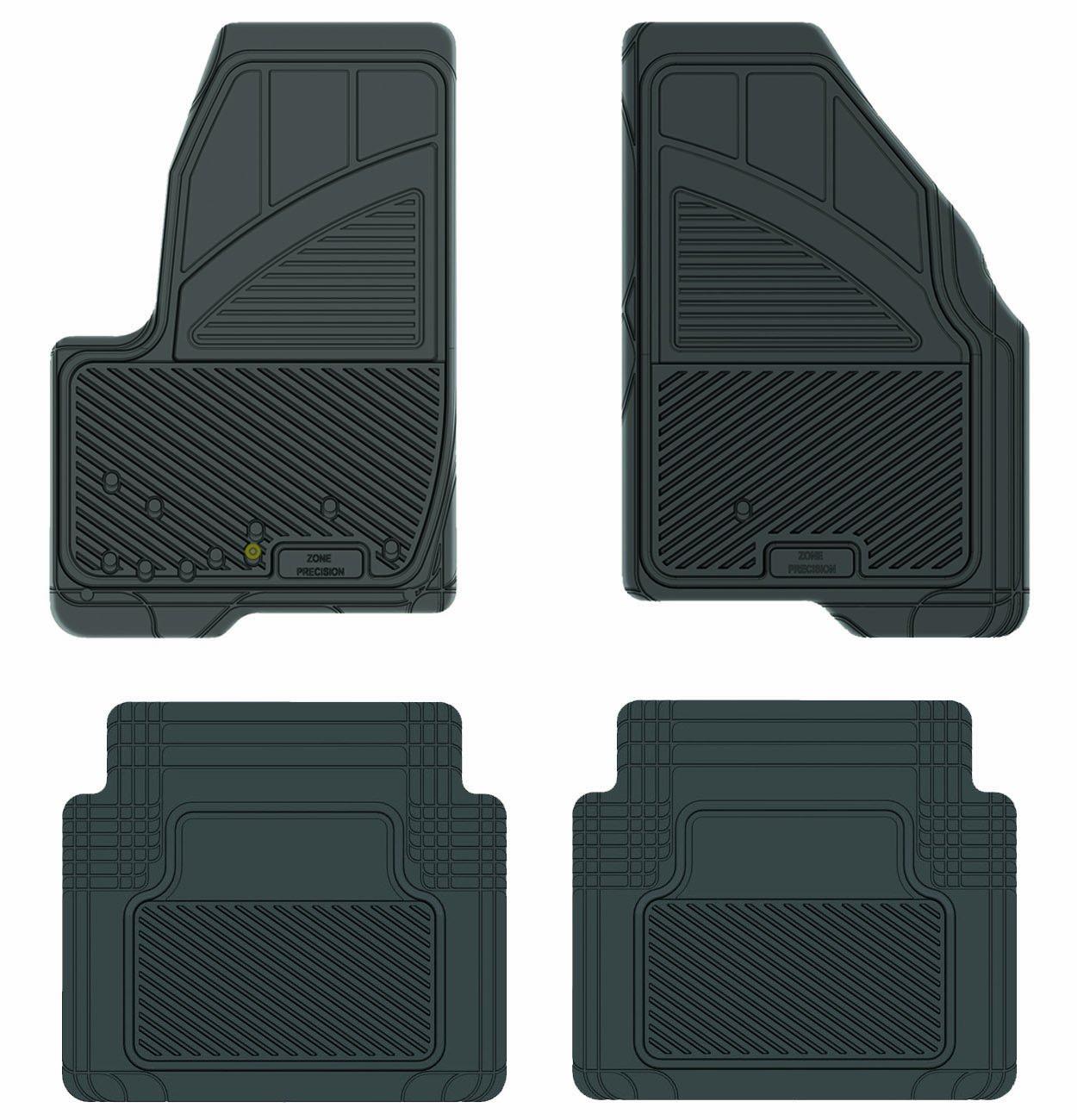 Koolatron Pants Saver Custom Fit 4 Piece All Weather Car Mat Black