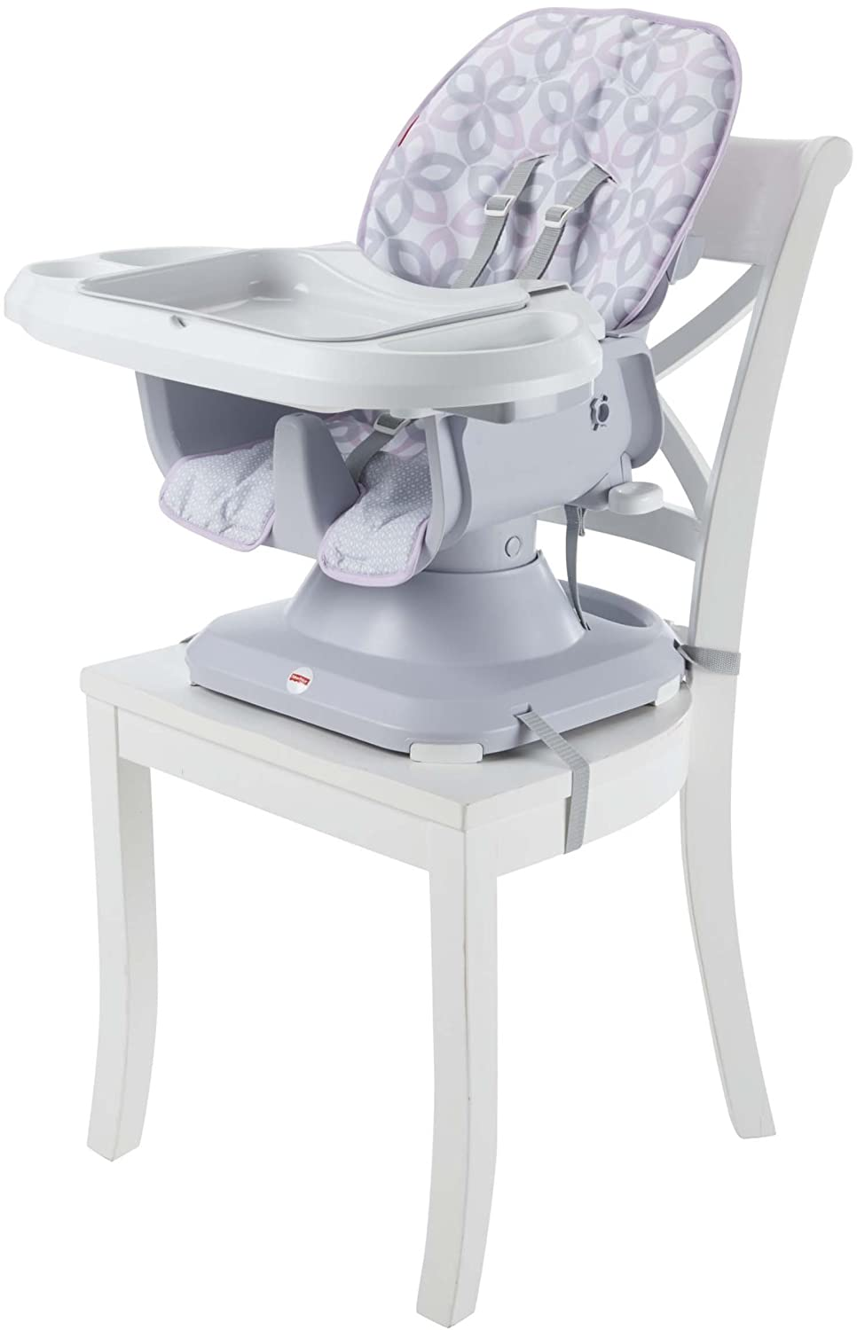 Fisher-Price Space Saver High Chair, Grey Floral FTM04