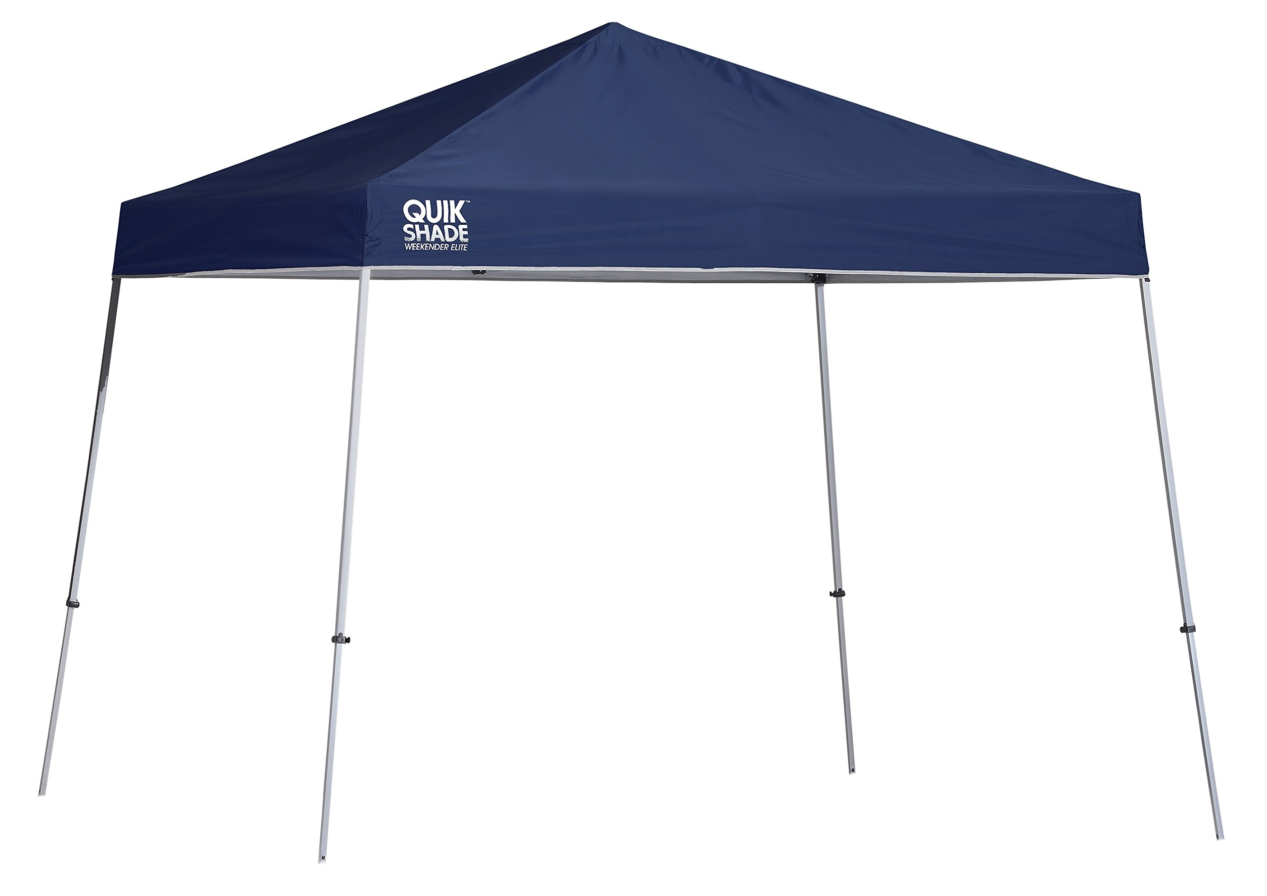 Quik Shade 10' x 10' Weekender Elite Instant Canopy, Slant Leg Outdoor Tent, 81 Square Feet of Shade for 6-8 People - Green by Quik Shade