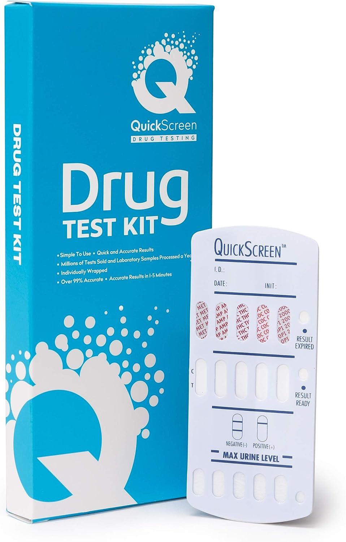 QuickScreen 5 Panel Drug Test Urine Dip Card 25Pk