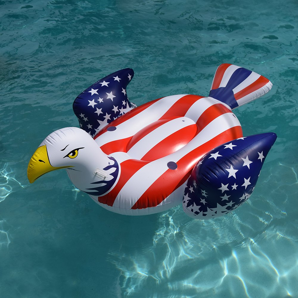 Giant Inflatable American Bald Eagle – Premium Patriotic Pool Floats Rafts & Swimming Pool Toys