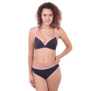 Image Unavailable. Image not available for. Color  Ossirrio Women s Salsa  Full Coverage Padded Bra Panty Set Comfortable Push Lingerie B ... 2e8a7549a