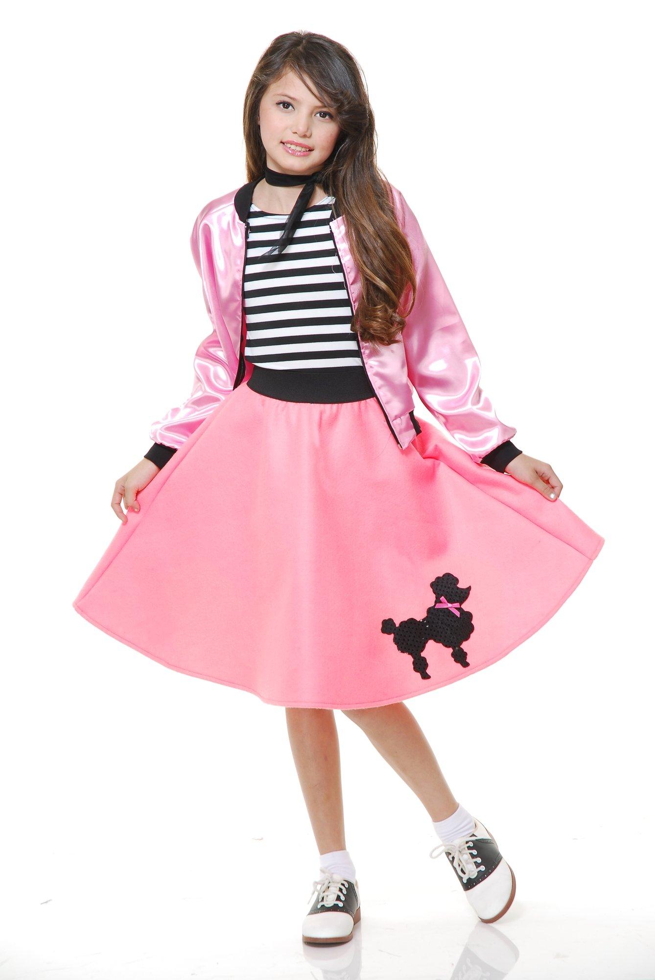 Charades Poodle Costume Dress, Pink, Medium