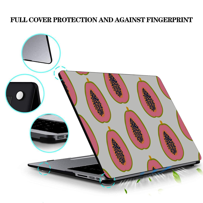 MacBook Pro Retina Case Summmer Cute Fashion Fruit Papaya Plastic Hard Shell Compatible Mac Air 11 Pro 13 15 Case MacBook Air 13 Protection for MacBook 2016-2019 Version