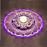 Led Kristall Deckenleuchte - SENYANG Mini-Stil Moderne Kristall Kronleuchter Hängeleuchten Led Kristall Lampe für Kinder Zimmer, Flur, Gang, Veranda, Küche, Esszimmer, Schlafzimmer (Lila)