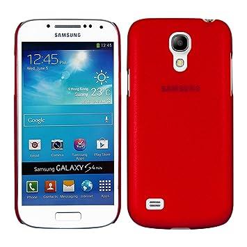 kwmobile Funda para Samsung Galaxy S4 Mini - Carcasa de plástico para móvil - Protector Trasero en Rojo