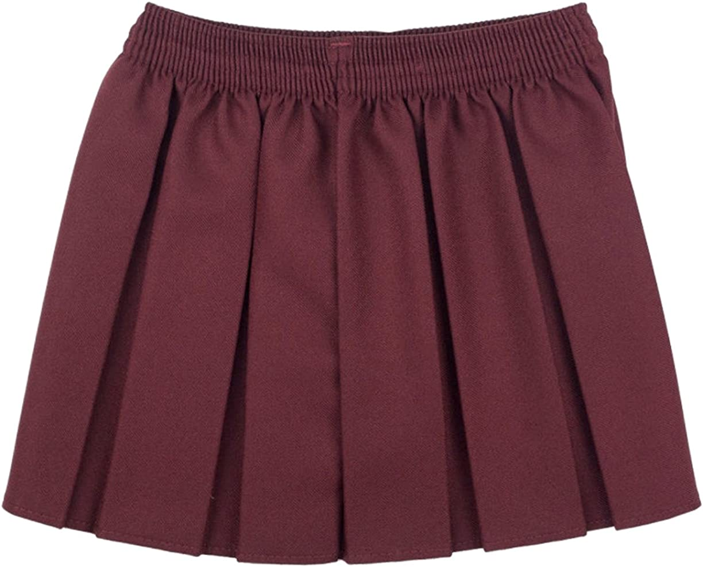 Girls School Uniform Box Pleated Elasticated Waist School Kids Skirt All Ages Back to School