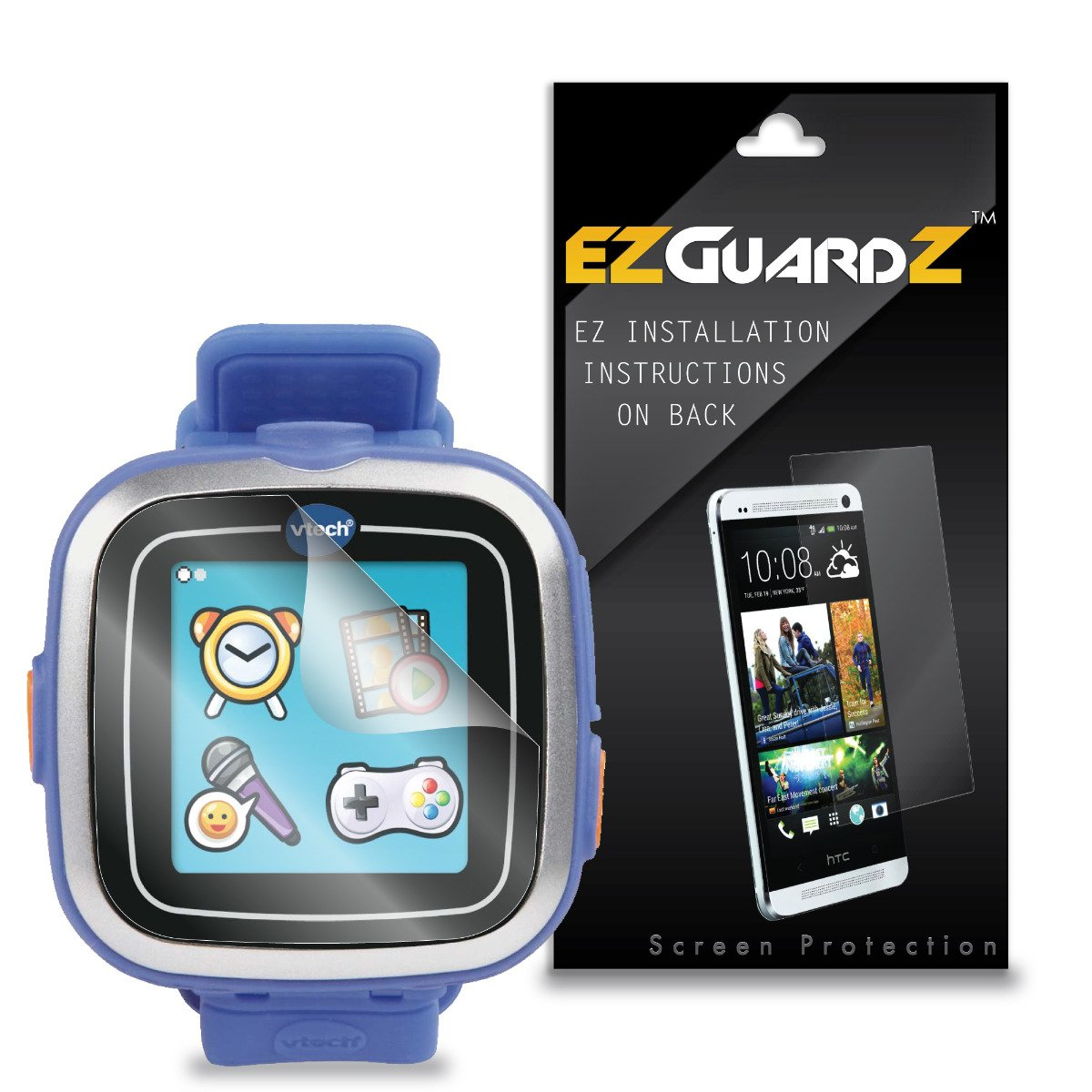 (5-Pack) EZGuardZ Screen Protector for Vtech Kidizoom Smartwatch (Ultra Clear)