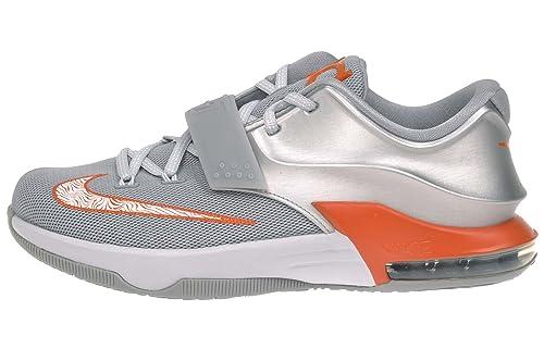the best attitude 0e153 0aa2b Nike Kid s KD VII GS, Metallic Silver Urban Orange-Wolf Grey-P
