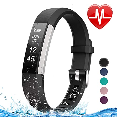 Letsfit Fitness Tracker HR, Heart Rate Monitor Watch, IP67 Waterproof Pedometer Watch, Sleep