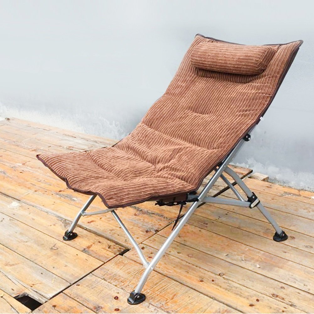 C KTYXGKL Lunch Break Chair Recliner Office Nap Chair Folding Chair Single Leisure Chair Back Chair Sun Lounger Folding Chair (color   O)