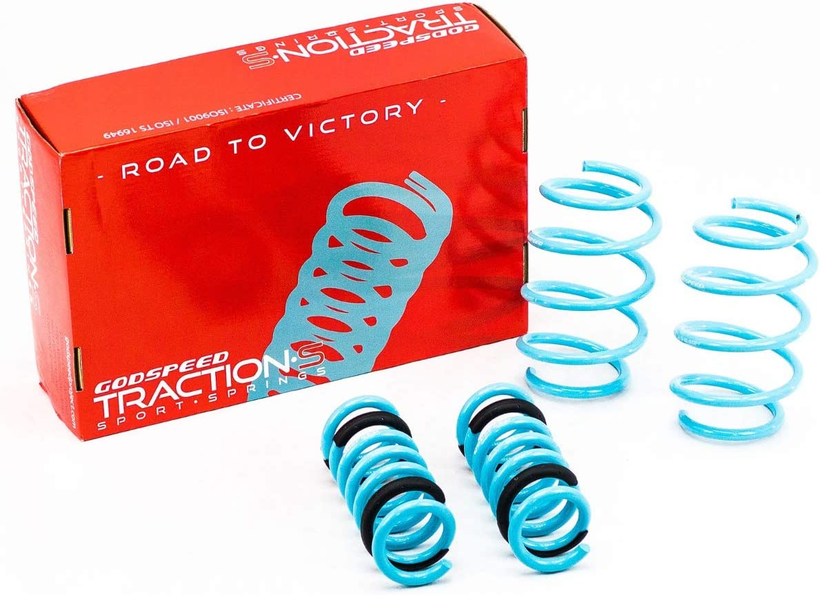 Reduce Body Roll Set of 4 Godspeed LS-TS-SU-0007-A Traction-S Performance Lowering Springs Improved Handling