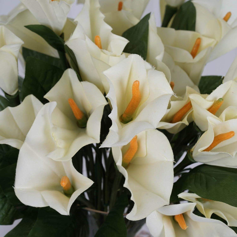 Amazon Balsacircle 168 Ivory Silk Calla Lilies 24 Bushes