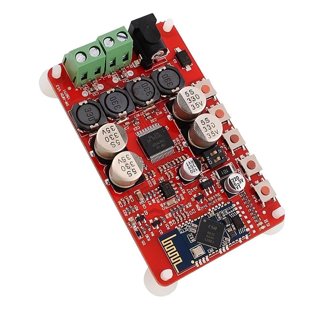 MagiDeal Senza Fili Bluetooth Ricevente Amplificatore Digitale Bordo Alimentazione Elettrica TDA7492P