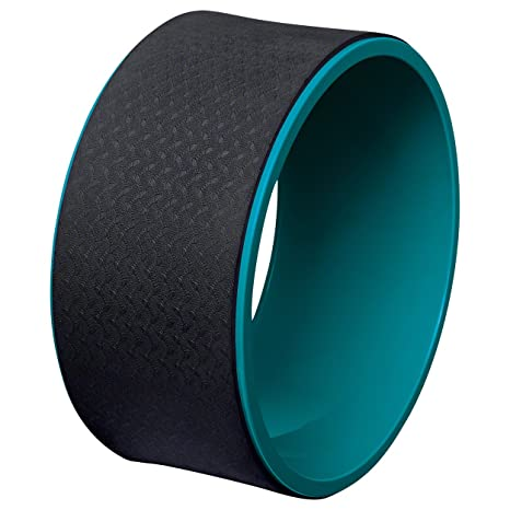 Unbekannt DEUSER Adultos Wheel Medio Yoga Accesorios, Color Azul petróleo, One Size