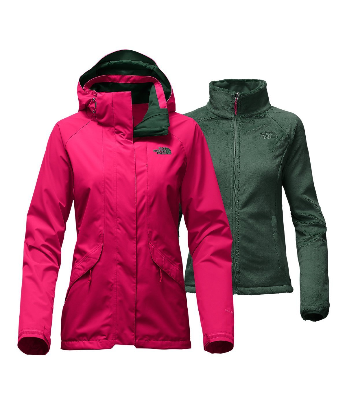 The North Face Boundary Triclimate Womens Insulated Ski Jacket Medium/Cerise Pink [並行輸入品] B075CKFJRQ