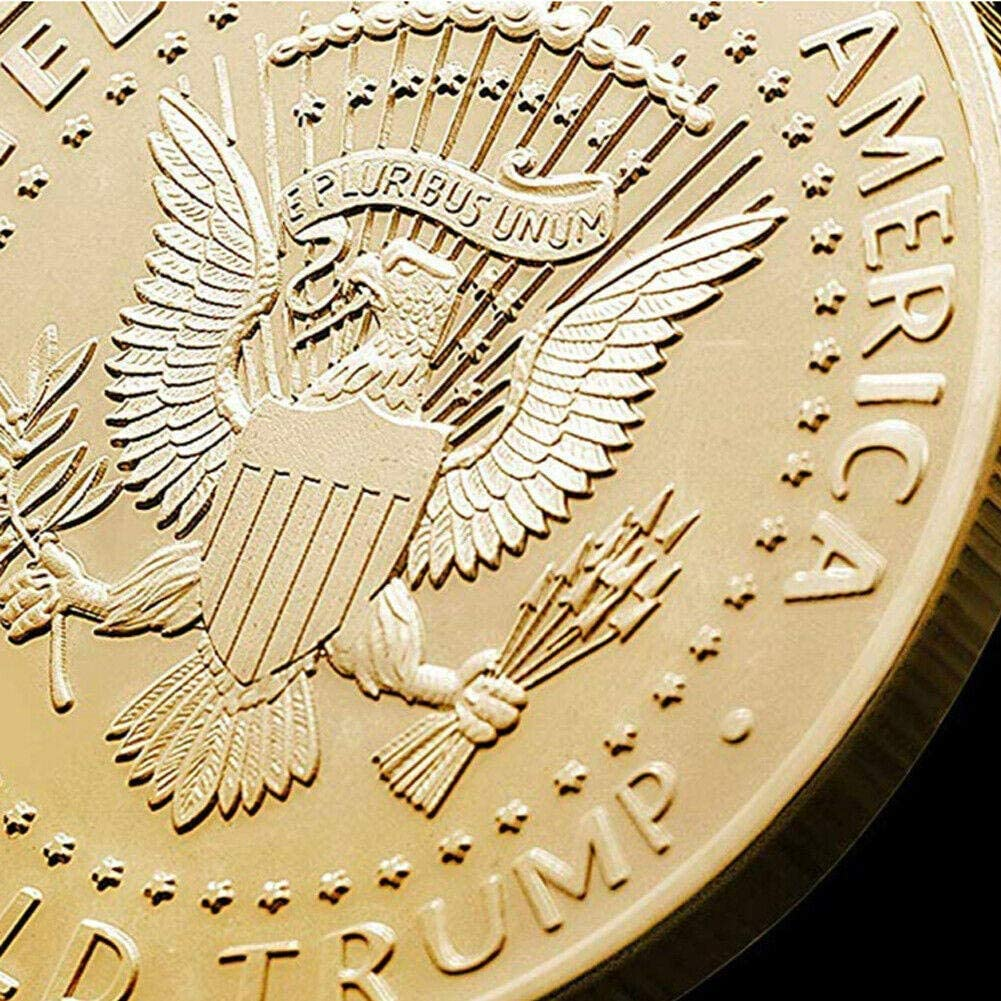 2020 Donald Trump Gold Coin Token Gold 24k Gold Plated Collectible Keep America Great 45th President of The United States Original Design Gifts