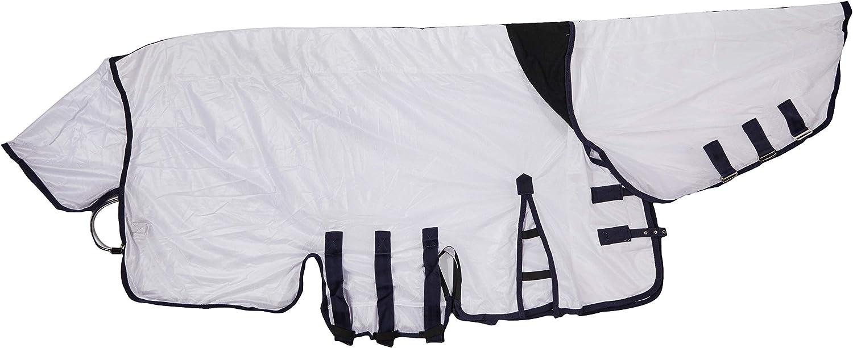 Rhinegold Combination - Tela para cubrir caballos y ponis de las moscas de todos los tamaños, color blanco