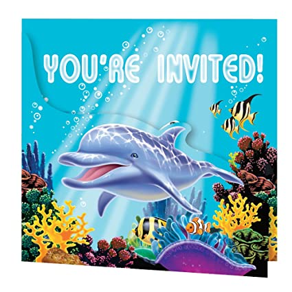 Amazon Com Creative Converting Ocean Party 8 Count Enhanced Party