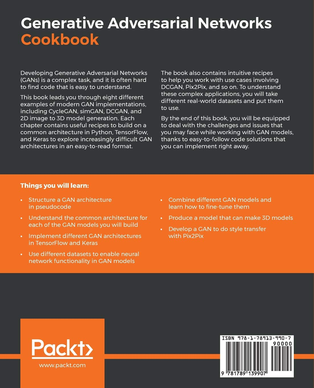 Buy Generative Adversarial Networks Cookbook: Over 100