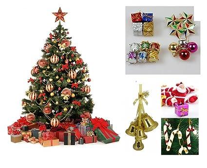 Buy WebelKart 76 pcs Christmas Tree Decorations Set (Balls, Bells ...