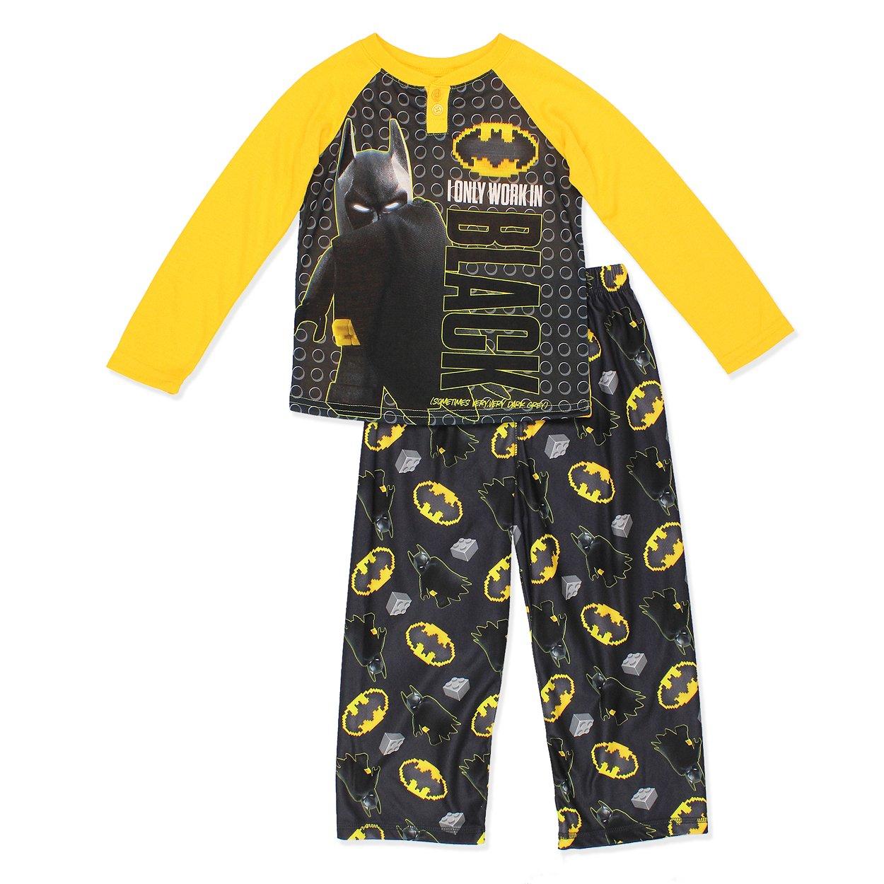 Batman Little Boys' 2 Piece Fleece Pajama Set AME Sleepwear Girls 2-6x 21BM100LLBFAZ