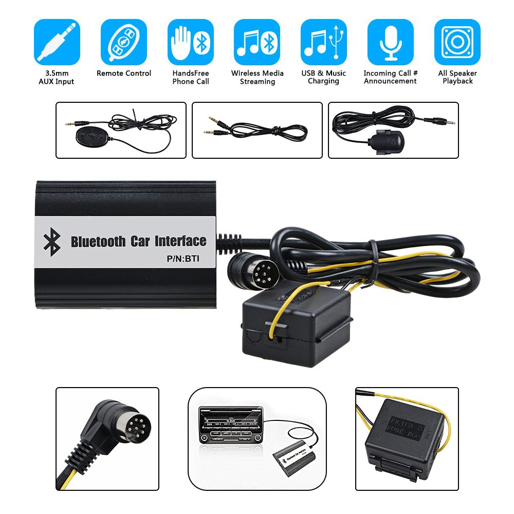 Astra Depot Car Bluetooth Cd Mp3 Aux Interface Adapter Kits Volvo 2004 S60r Fuse Box C70 S40 S60 S80 V40 V70 Xc70 Hu Xxx Electronics