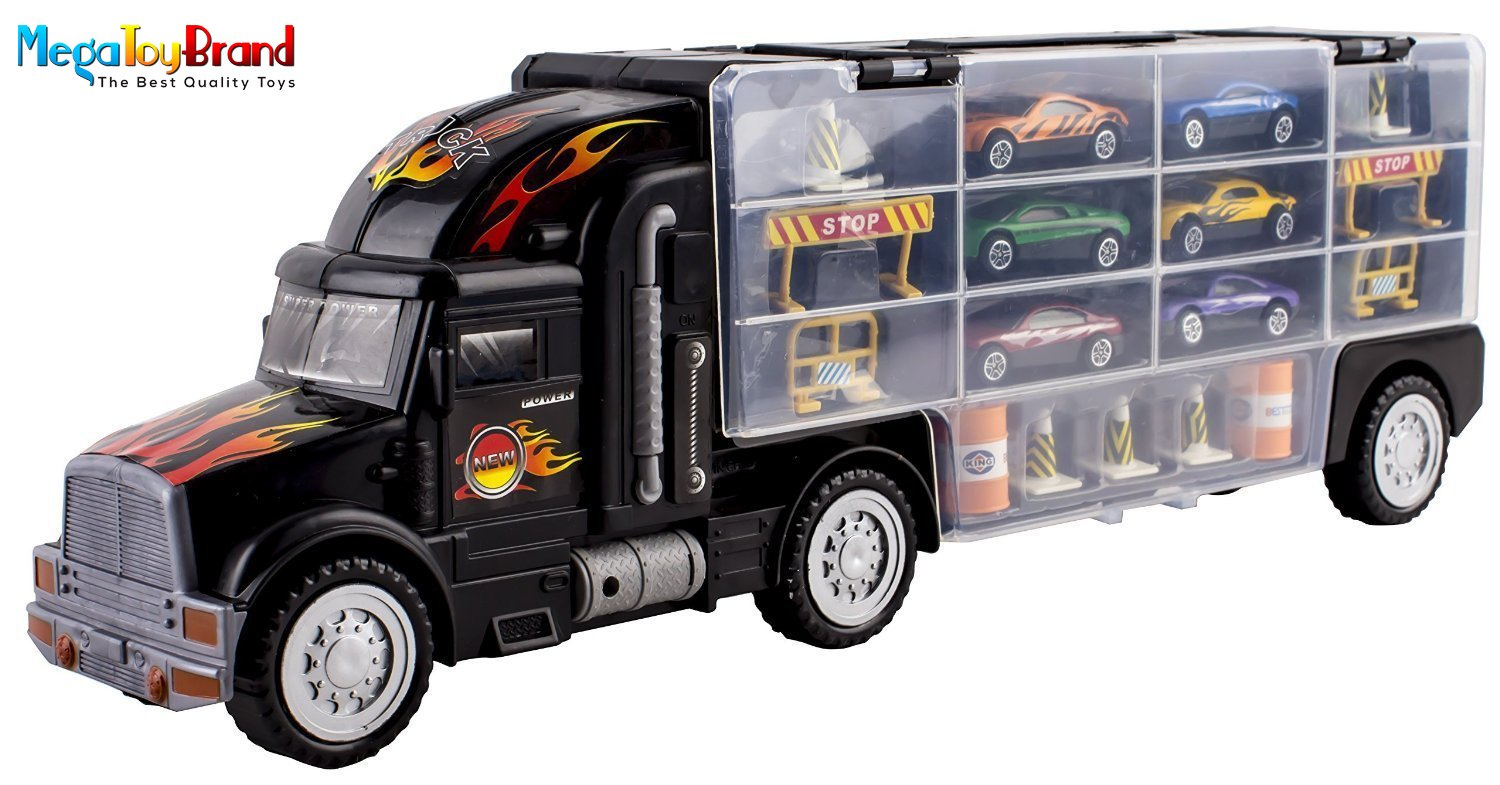 Toy Cars And Trucks : Matchbox cars transport semi truck slots hot wheels