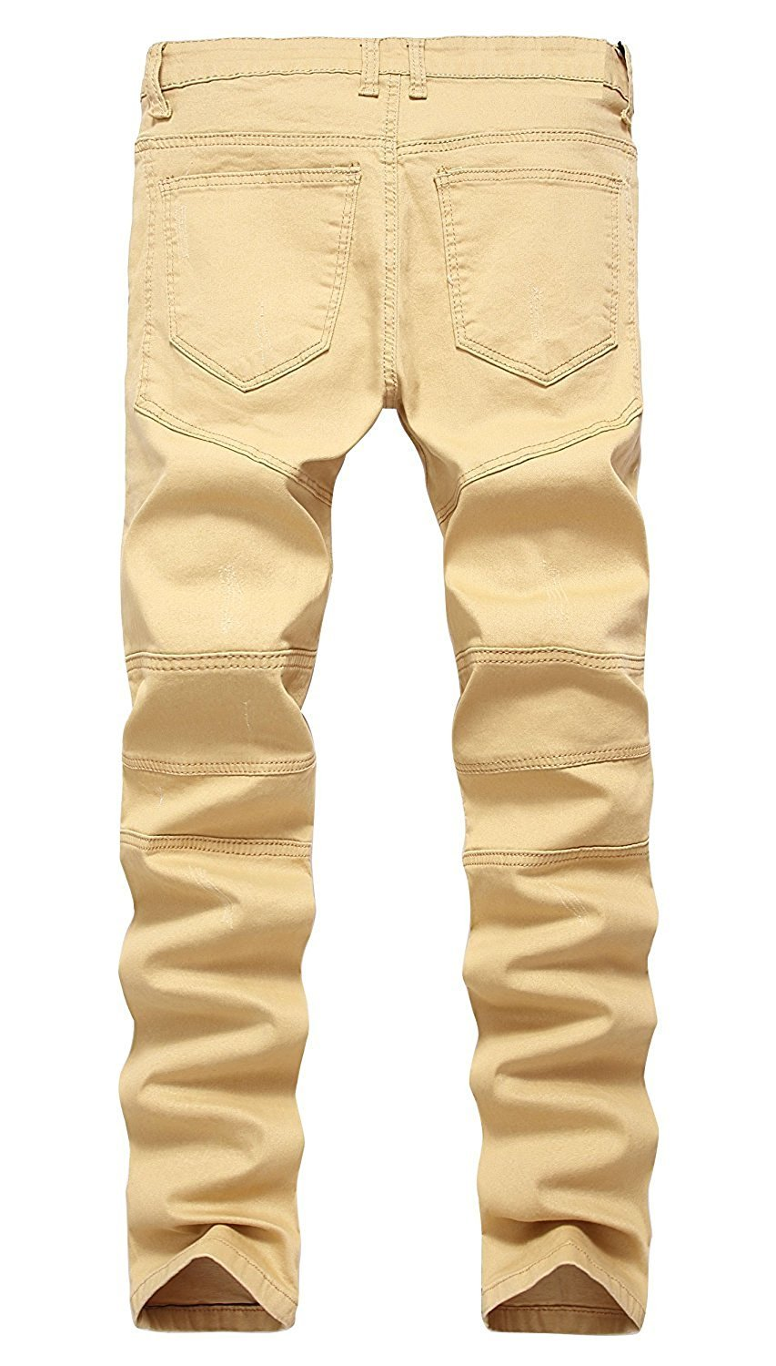 TOPING Fine Fashion;Handsome Men's Ripped Destroyed Distressed Slim Fit Jeans Biker Jeans 04 Khaki28W x 30L