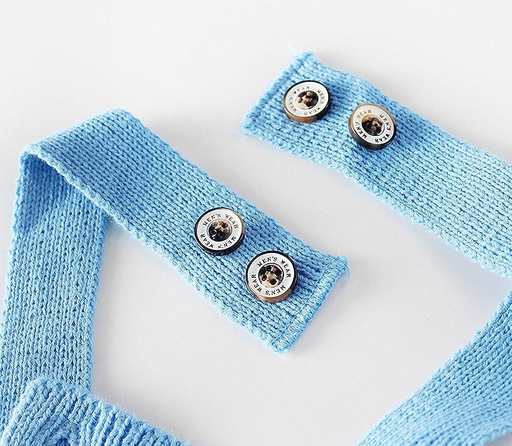 Pinleck Newborn Baby Girls Knit Stripe Strap Romper Stitching Cute Jumpsuit Bodysuit Blue