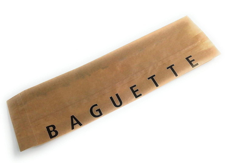 Bolsas de papel kraft para bocadillo o baguette pequeña 35 x ...