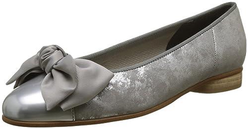 2dab3489e7 Gabor Shoes Women's Basic Ballet Flats, Grey (Silber/grau), 3 UK
