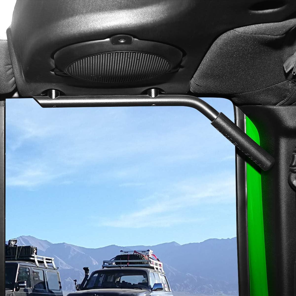 Sulythw Hunter Black Front/&Rear Grab Bar Brushed Hard Steel Wild Boar Grab Handle Kit for 2007-2017 Jeep Wrangler JK JKU
