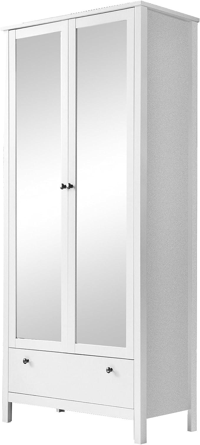 Trendteam Mueble Armario, 2 puertas, Blanco, 92 x 192 x 204 cm ...