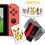 20 Pcs NFC Tag Game Cards for Super Smash Bros. Ultimate (SSBU), Compatible for Switch/Wii U/3DS XL with Portable Leather Wal