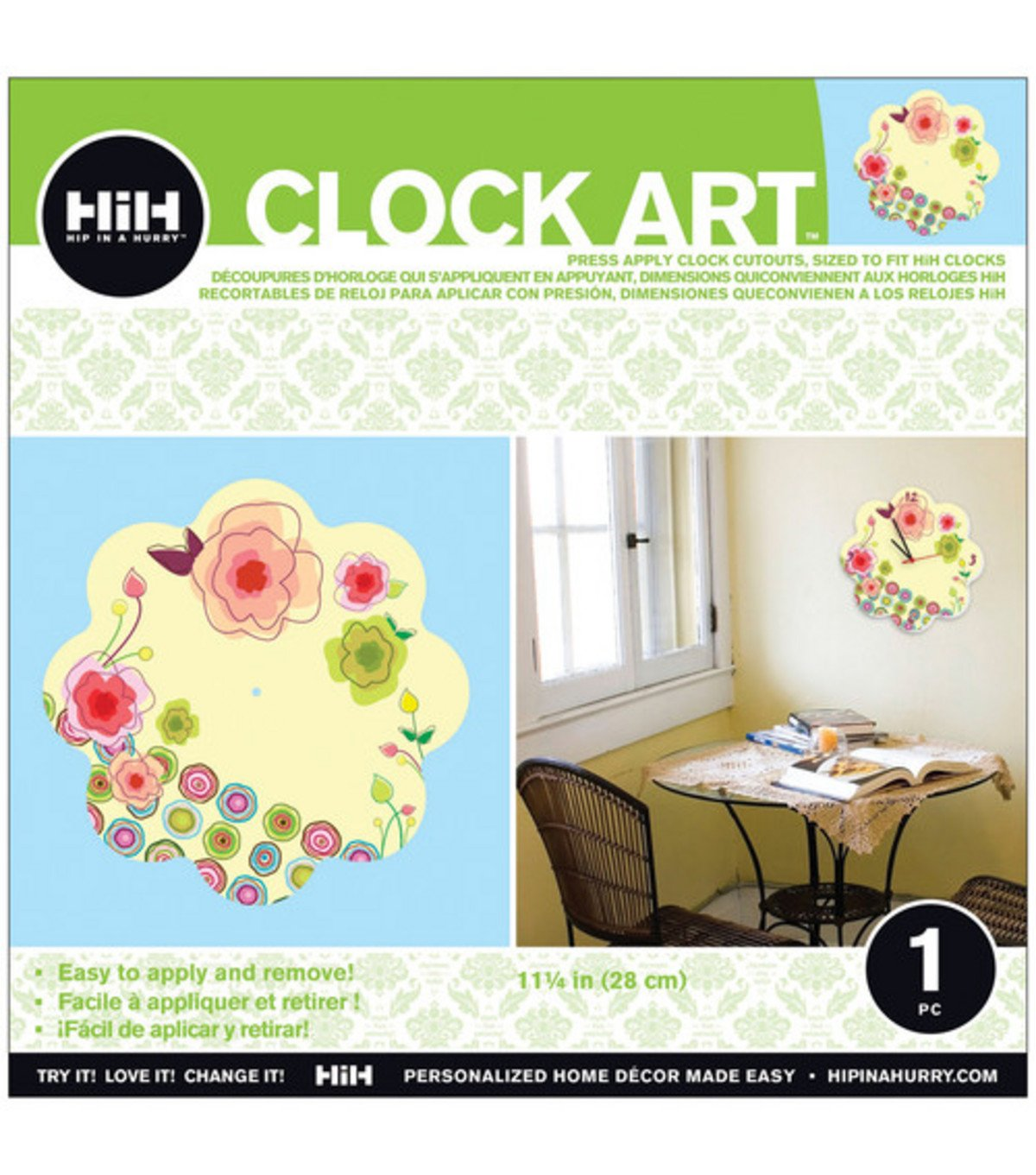Amazon.com: Hip In A Hurry 3D Decor Clock Art 11 Inch - Hearts: Home & Kitchen