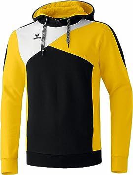 erima Top Langarm Hoodie - Sudadera de fútbol para Hombre, Color Negro/Amarillo/Blanco, Talla 3XL: Amazon.es: Deportes y aire libre