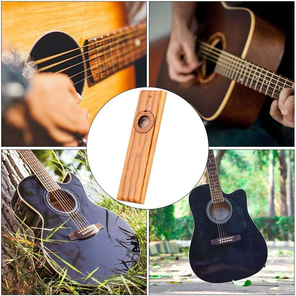 Bnineteenteam Kazoo de Madera cl/ásico Guitarra arm/ónica de Madera Ukulele Partner Kazoo Instrumento con 3 membranas y 1 Enchufe