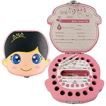 Amazon.com: Caja de recuerdos para bebé., chica, Madera: Baby