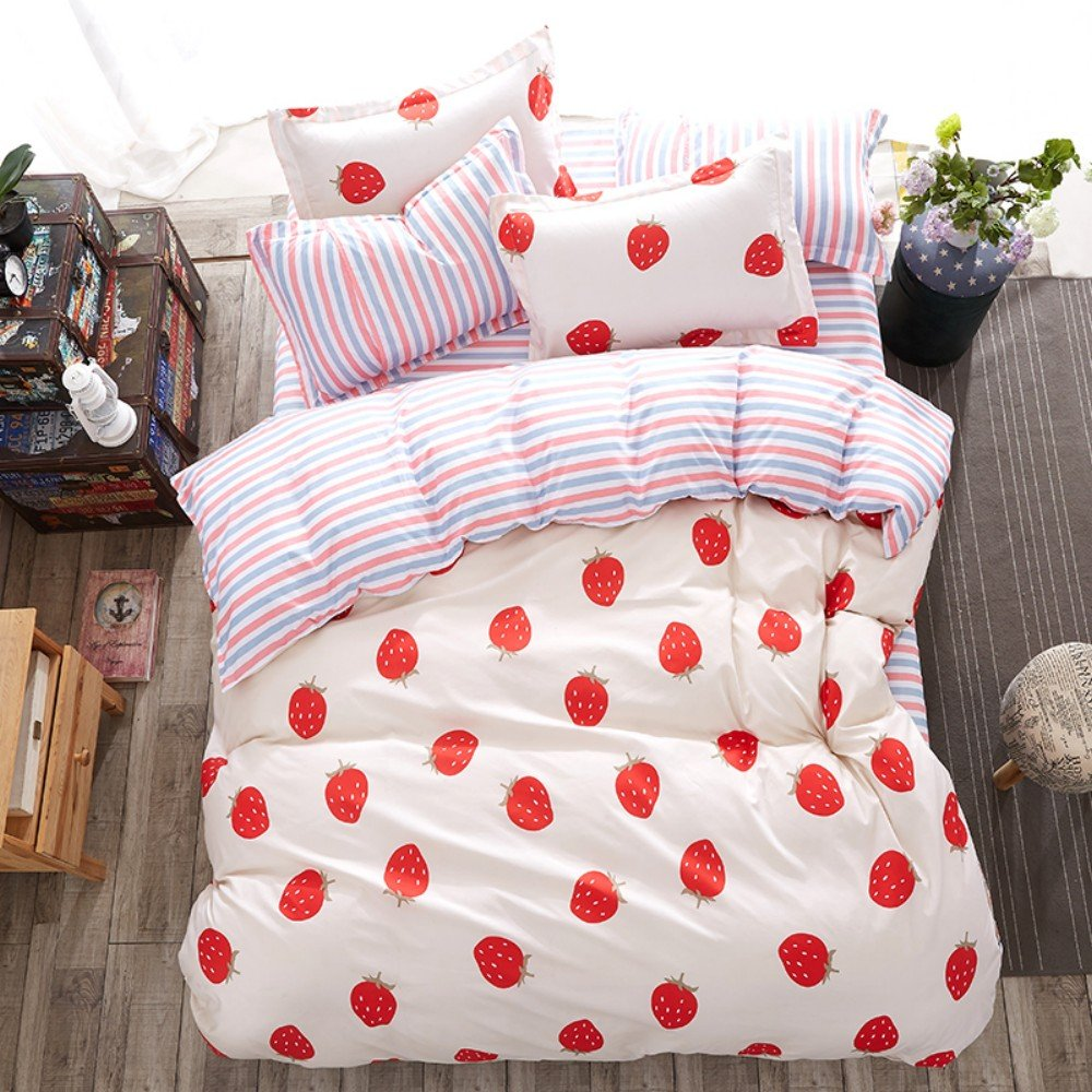 dayiyangファッションStrawberry Heart Personalizedポリエステル寝具セット European double bed Dayiyang B07FL9V6PZ  European double bed